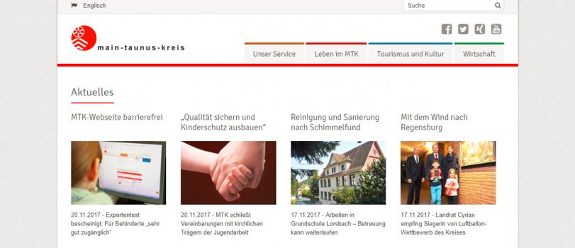 Barrierfreie Website des Main-Taunus-Kreis ausgezeichnet